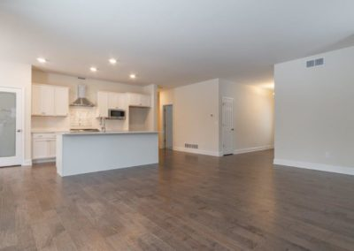 Open floor plan at the Franklin
